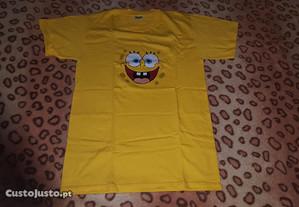 tshirt amarela sponge bob tamanho S