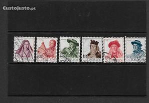 6 selos usados. Portugal 1947