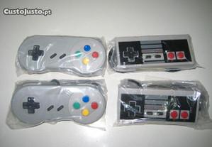 Comandos USB Retro Gaming Tipo Nintendo SNES e NES