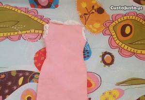 Vestido rosa para Barbie anos 70