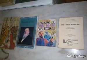 Conjunto de 4 Livros Religiosos Antigos