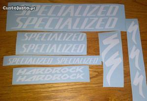 Specialized Hard Rock Autocolantes + oferta nomes