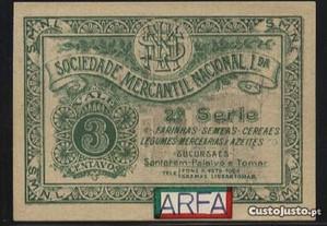 Espadim - Cédula de 3 Centavos de Lisboa - Rara