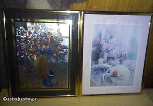 2 quadros c/flores