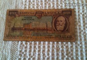 20 Escudos -Silva Porto - Angola