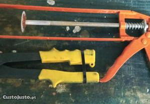 Pistola Silicone + Alicate Cravar Rebites