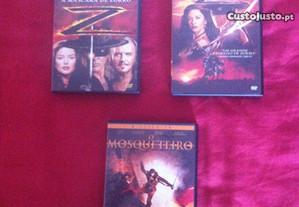 Vários DVD's de filmes originais