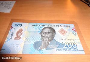 Nota Nóva 200 Kwanzas Angola 2020 Polymer