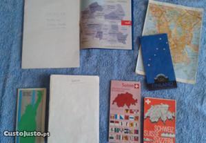 LOTE de 6 mapas diversos de países +BRINDE
