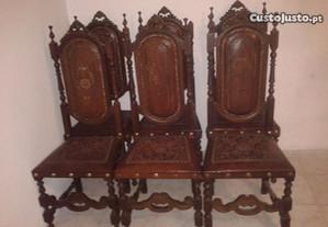 cadeiras de couro/entrega