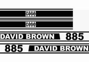 Kit autocolantes CASE David Brown
