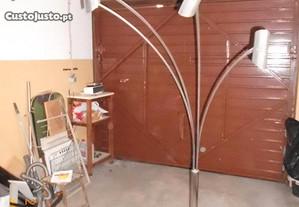Candeeiro de Sala cromado com 4 braços
