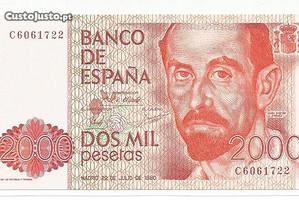 Espadim - Nota de 2.000 Pesetas de 1980 - Espanha