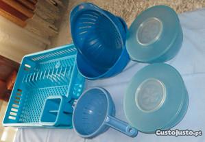 Equipamento cozinha, 9 peças . Azul