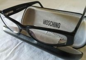 Óculos originais moschino com estojo novos
