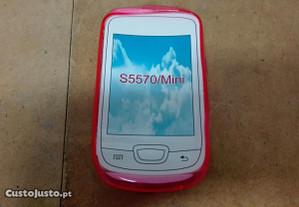 Capa em Silicone Samsung Galaxy Mini (S5570) Rosa