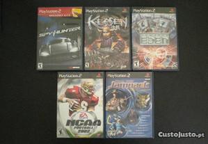 jogos PS2 - Spy Hunter Kessen Eden NCAA