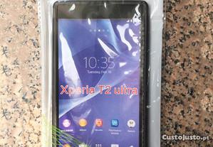 Capa de silicone para Sony Xperia T2 Ultra - Novo
