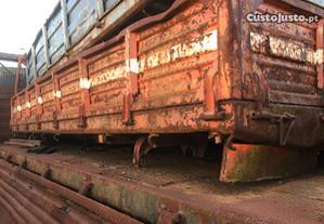 Caixa basculante trilateral carrinha atrelado