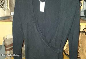casaco preto de trespasse, da Fatima Cruz novo