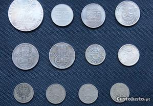 12 moedas Portugal Moçambique e Angola