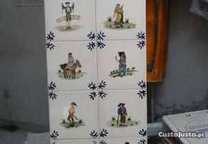 Conjunto 10 azulejos tema
