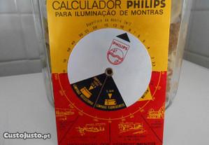 Calculador PHILIPS para iluminação de montras