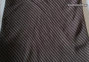 Saia cor preto riscada tamanho 40