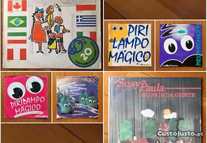 Conjunto discos vinil infantis LP Singles