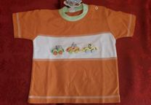 T-shirt menino cor laranja nova 12 meses