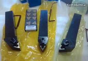 3 suportes d 25mm p torno + 10 TNMG16