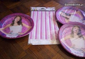 Conjunto festa de aniversario da Violetta