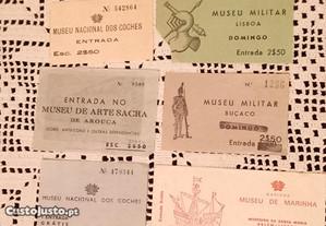Bilhetes de entrada de museus ,teatro S. Pedro