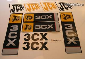 Jcb 2CX 3CX Retro escavadora autocolantes