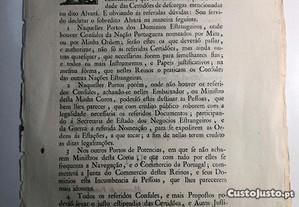 Alvará Régio de 1774 - Comércio Geral do Tabaco