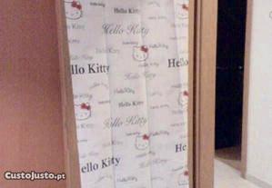 2 cortinados grandes alças Hello Kitty-par novo