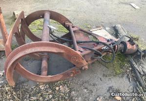 Gadanhola grifa pinça com rotor giro