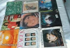 Discos vinil singles 45r. anos 80 ( varios)