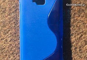 Capa de silicone azul para Wiko Slide - Novo
