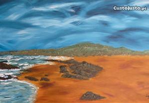 Praia do Guincho - tinta acrilica sobre tela