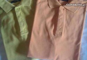 2 Polos Dutti Sport cores laranja e verde tam. M