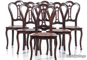 Conjunto 6 Cadeiras Mogno