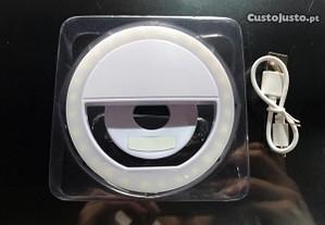 Selfie Ring Light para telemóvel - 3 níveis de luz