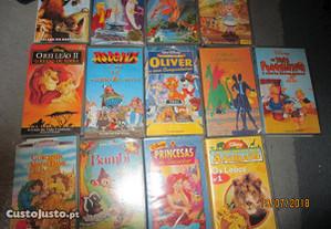16 cassetes VHS - Desenhos animados