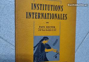 Institutions Internationales (portes grátis)