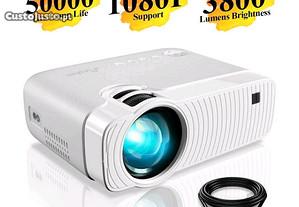 Projetor led 3800 lumens/1080P/Imagem de alta qual
