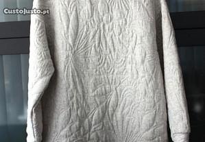 Vestido cinza prateado ZARA tamanho S-M