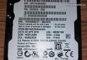 Disco Rígido 250GB WD PC e PS4