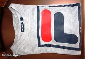 T-shirt cinza logo FILA T.S