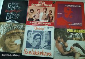 Discos single em vinil antigos